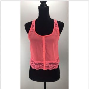 Love Squared Top S Small Floral Lace Trim